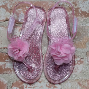 Other - Pink Sparkle Jelly Shoes